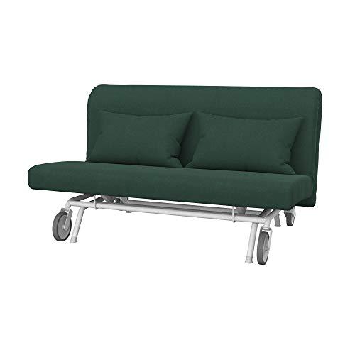 Soferia Funda de Repuesto para IKEA PS sofá Cama de 2 plazas, Tela Elegance Mineral, Verde