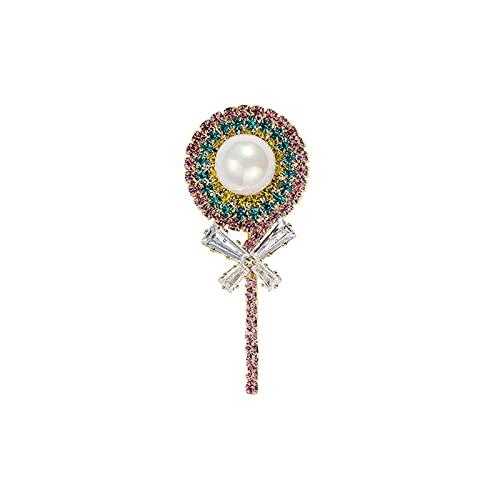 Yisss Precioso Broche de Arco de Lollipop, Broche Afortunado, Broche de Bufanda de Seda, para Esposa, Madre, Maestra, Esposa e Hija