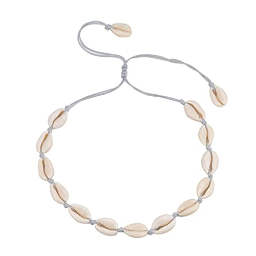 CHENLING Collar de concha bohemia para mujer, verano, playa, concha, gargantilla hecha a mano, cuerda de clavícula, cadena de moda para niñas, regalos