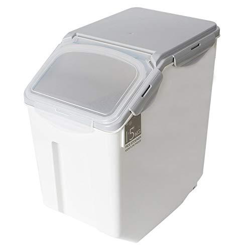 HMYLI Arroz contenedor Caja, a Prueba de Humedad de plástico hermética Titular Triturador del Organizador del Caso del Grano con el Que traba la Tapa de la harina de Avena azúcar Nueces,10kg