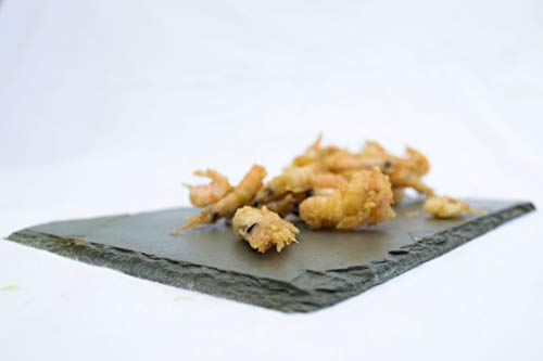 queso Cabilock Bandeja redonda de pizarra natural para alimentos redonda sushi para servir carne 25 cm