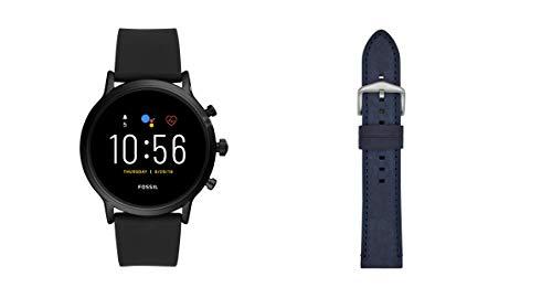 Fossil Smartwatch Gen 5 para Hombre con Pantalla táctil, Altavoz, frecuencia cardíaca, GPS, NFC y notificaciones smartwatch + Correa para Reloj S221489
