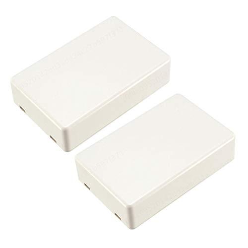 YUNB 2 Stück weiße elektronische Kunststoff DIY Anschlussdose Gehäuse Fall 70 x 45 x 18 mm