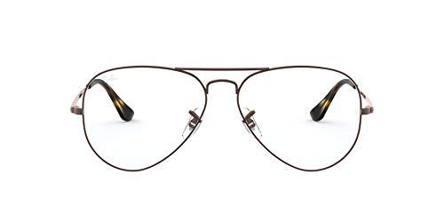 Ray-Ban Unisex-Erwachsene 0rx 6489 2531 58 Brillengestell, Braun (Light Brown)