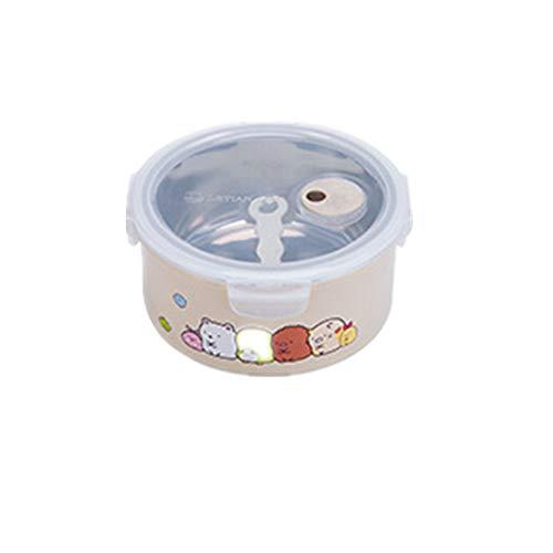 SHUNHUI Instant-Nudel-Lunchbox Für Kinder-Cartoons, Versiegelte Süße Lunchbox Im Japanischen Stil, Lunchbox Für Büroangestellte Im Freien, Runde Lunchbox Für Studentenisolierung