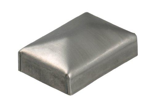 Gah-Alberts 419622 palen kap voor vierkante metalen palen, om te lassen, breedte: 30 mm, lengte: 60 mm, 20 stuks