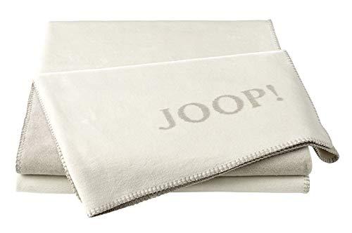 Joop!® Uni-Doubleface I flauschig-weiche Kuscheldecke Ecru-Feder I Wohndecke aus Baumwolle in Natur I Tagesdecke 150x200cm | nachhaltig produziert in Deutschland I Öko-Tex Standard 100