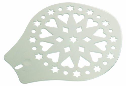 Westmark Kuchen- und Tortenheber, Verzierschablone, Durchmesser: 28,2 cm, Kunststoff, Weiß, 31412270