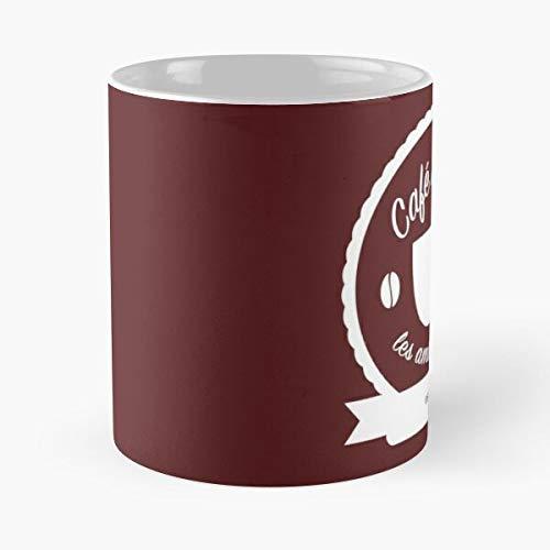 Grantaire Mis Les Enjolras Eponine Amis Miserables Maroon White Best 11oz Taza de café de cerámica Personalizar