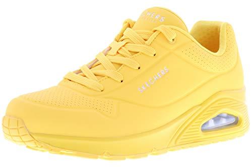 Skechers Uno - Zapatillas de deporte para mujer, Amarillo (Amarillo-Amarillo.), 39 EU