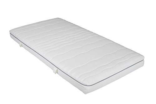 Interbett M300669 Sleep Gel Härtegrad Medium 7-Zonen Gelschaum-Matratze, Polyester, weiß, 200 x 140 cm