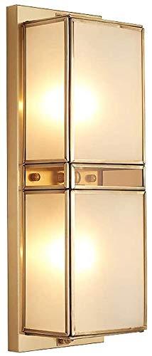 Lámpara de pared a prueba de polvo a prueba de agu Vintage Wall Sconence Iluminación al aire libre LED Linterna Linterna Linterna Linterna con vidrio claro Lámpara de seguridad a prueba de agua para e