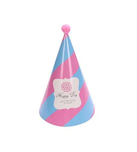 Blancho Fournitures [Happy Day] 5Pcs Anniversaire d'enfants Hat Party Party Hat