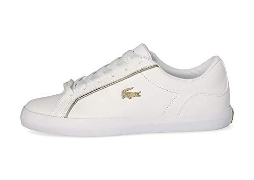Lacoste Damen Low-Top Sneaker Lerond 0721 1 CFA, Frauen Halbschuhe,schnürer,straßenschuhe,Freizeitschuhe,weiblich,Weiß (WHT/WHT),38 EU / 5 UK