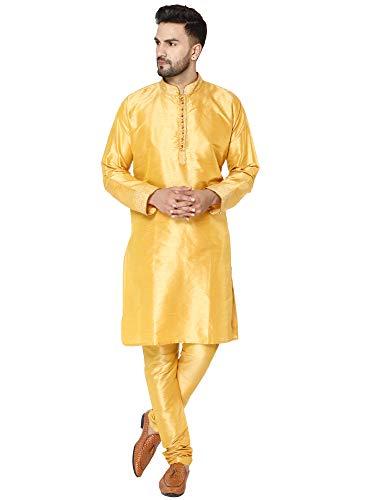mannen tuniek art zijde kurta pyjama set feestjurk