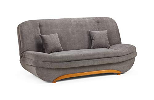Honeypot - Sofa - Weronika - Storage Sofa Bed - 2 Seater - Grey Fabric