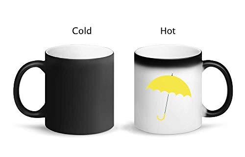IDcommerce Yellow Umbrella Tazza Magica di Design con Tazza in Ceramica 325ml