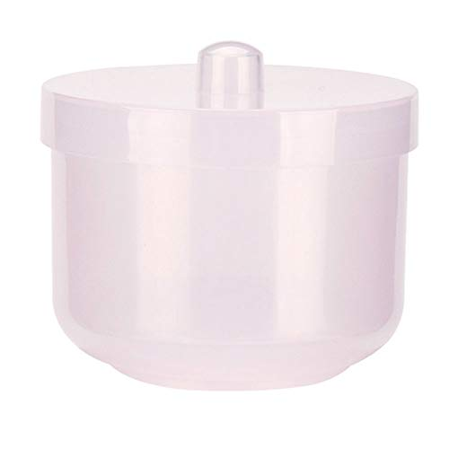Nail Drill Bits Holder, Sanding Head Storage, Nail Drill Bit Organizer Stand Multiple Holes Dust Proof Container Box with Cover for Home Salon Pink