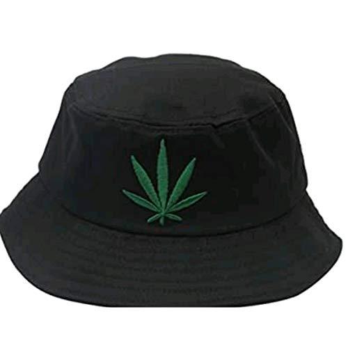LQMGLP Hip Hop Schwarz Weiß Weed Bucket Hats Für Herren