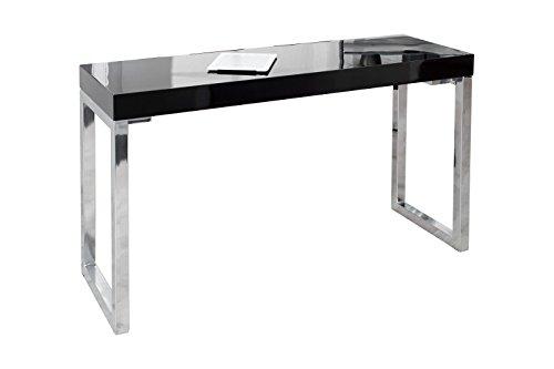 DuNord Design Laptoptisch Schreibtisch Bürotisch FOKUS Hochglanz schwarz 120x40cm Laptop Tisch