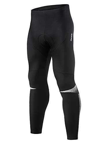 Santic Men's Cycling Tights Winter Thermal Fleece 4D Padded Bicycle Pants