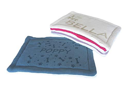 AIGAT Personalisiertes Haustierbett, Katzenbett oder Hundebett, ideal für Hundekisten aus Metall   Maschinenwäsche & Trocknen, Größe 60x40cm (Grau)