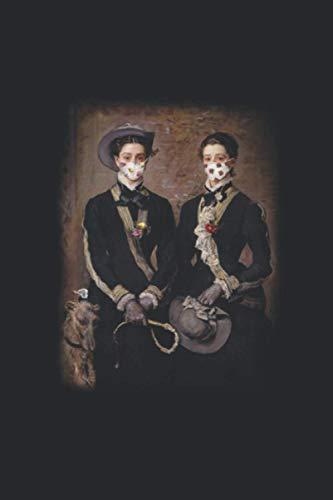 Porträt Kunst Maske Mundschutz Notizbuch: Porträt Kunst Maske Mundschutz Notizbuch 120 Seiten liniert 6x9 Geschenkidee Weihnachten Ostern Geburtstag ... Van Gogh Da Vinvi Goethe Mona Lisa