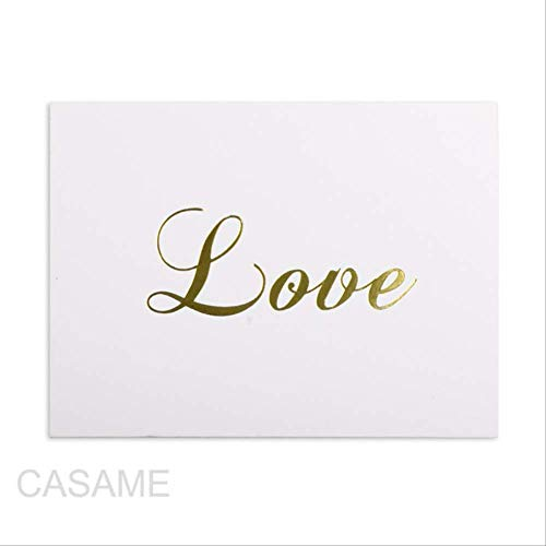 Wenskaarten BLTLYX 50st Mini Goud Reliëf Bedankkaart Valentijn Gelukkige Verjaardag Kerstfeest Trouwkaarten Brief Wenskaarten 6 * 8cm Liefde