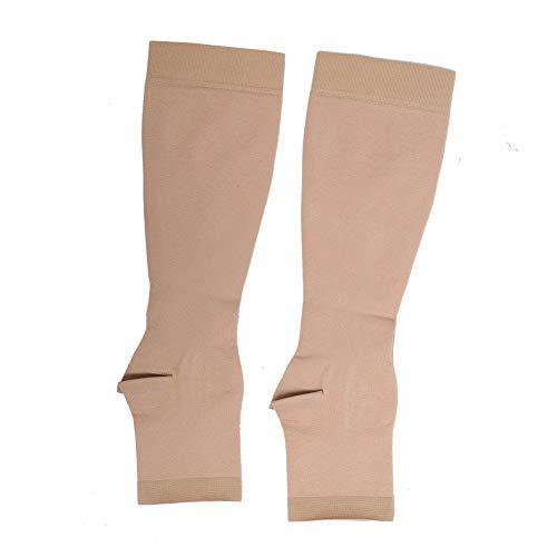 Calcetines de compresión hasta la rodilla, calcetines de soporte fuerte para hombre y mujer, calcetines de presión de larga duración y alivio muscular(M)