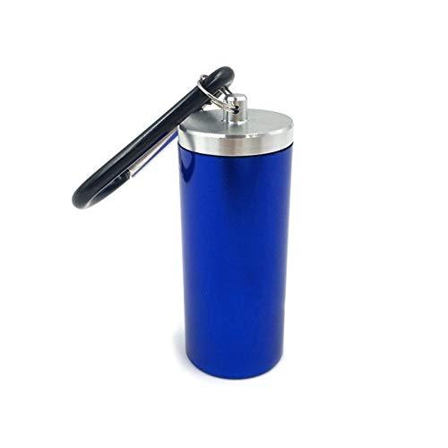 SJSJ Mini Caja de aleación de Aluminio, portátil, Impermeable, para Hombre y Mujer, diseño Redondo, Caja de Cigarrillos, Viaje al Aire Libre, Llavero para Fumadores, Caja de Cigarrillos