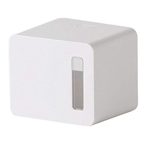UBDER Soporte de Papel de Papel higiénico Almacenamiento de Tejido montado en la Pared, Caja de Soporte de Toalla de Papel Impermeable Autoadhesivo Servilletero (Color : White)