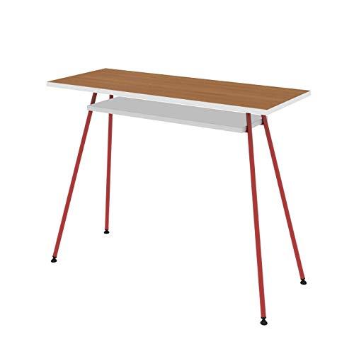 LEVIRA - Mesa de Oficina, Escritorio, Mesa de Ordenador, Kost Colors - 100 x 75 - Rojo
