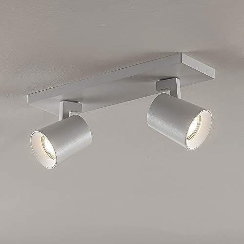 Arcchio Strahler 'Iavo' dimmbar (Modern) in Weiß aus Metall u.a. für Flur & Treppenhaus (2 flammig, GU10, A+) - Deckenlampe, Deckenleuchte, Lampe, Spot, Flurleuchte