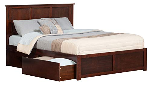 Atlantic Furniture Madison Bed, King, Walnut