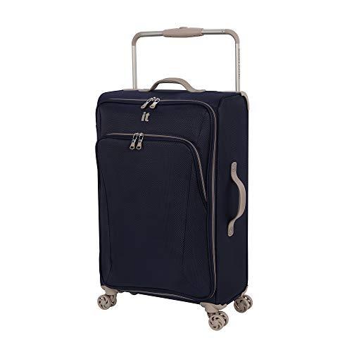 it luggage Sprightful World's Lightest Softside Spinner, Blue, Checked-Medium 28-Inch