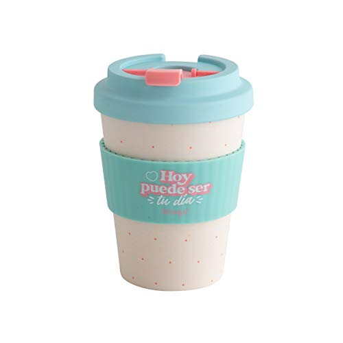 Mr. Wonderful WOA10645ES Taza take away, Bambú