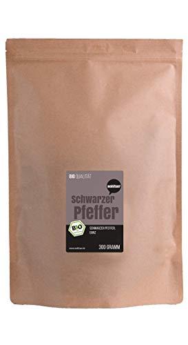 BIO-Pfeffer schwarz (Pfefferkörner ganz) Für die Pfeffermühle geeignet – 300g von Wohltuer®