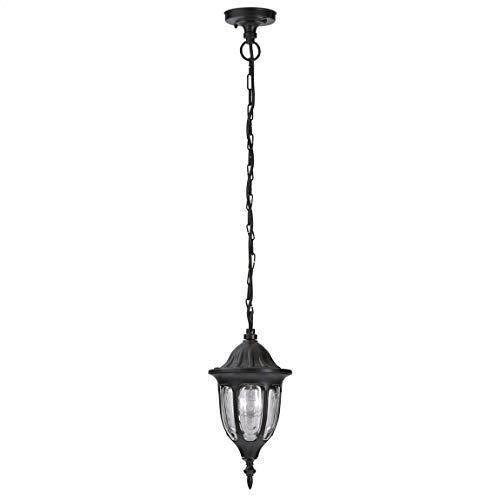 *Rustikale Außen Pendelleuchte Schwarz Kette Laterne IP43 E27 Gartenlampe Haus Balkon Terrasse MILANO*