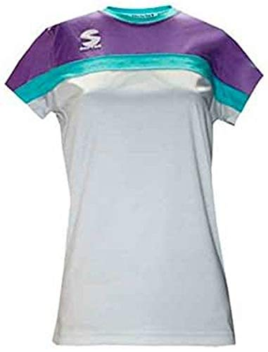Softee T-Shirt Padel Club pour Femme Blanc/Violet/Vert Taille XS