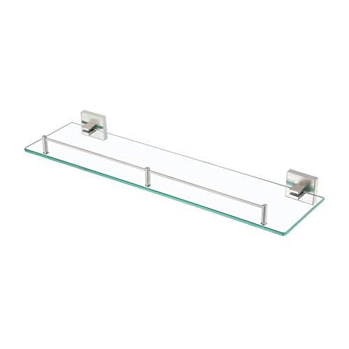 KES Glasregal Glasablage Bad Duschbalge Ohne Bohren 7mm Badablage Glas Sicher Badezimmer Wandregal...