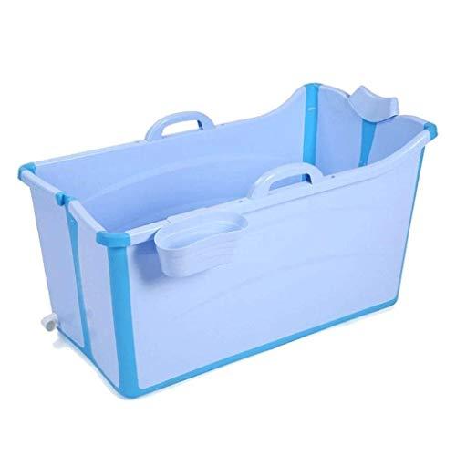 Ssrsgyp Adulto Bañera Plegable Portátil Bañera, Bañera For Bebés, Bandeja De Hogares Grande Ducha De Bañera Plegable, Plegable Bañera For Adultos, 2 Colores (Color : Blue)