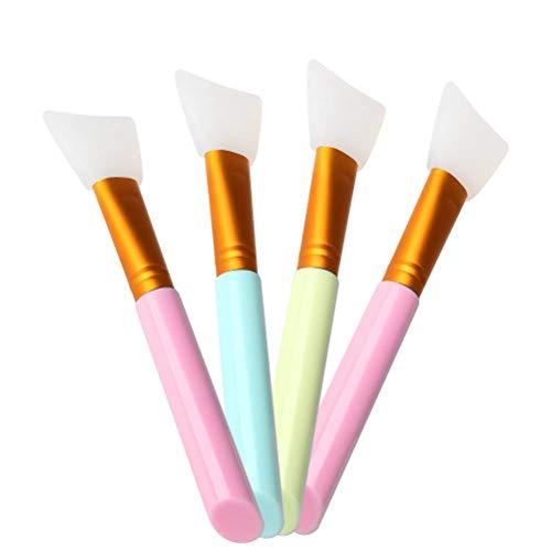 4 PCS Pinceau Masque Visage, Brosse Cosmétique de Masque Silicone Pinceau Beauté Outil pour d'Application Facial Boue