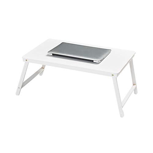 YShop Simple Bamboo Lit Ordinateur Portable, Table De Bureau Thé, Accueil des Étudiants Table D'écriture, Multi-étage Table Basse, 5 Couleurs ++ (Color : White)