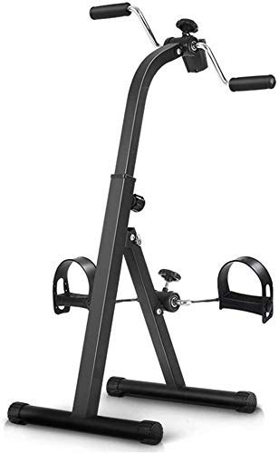 GAXQFEI Pedal Ejercitiser - Pierna de Mano de la Mano Recuperación de la Rodilla Peddler Médico - Equipo de Rehabilitación de Aptitud Ajustable Plegable para Personas Mayores, Ancianos - Bicicleta de