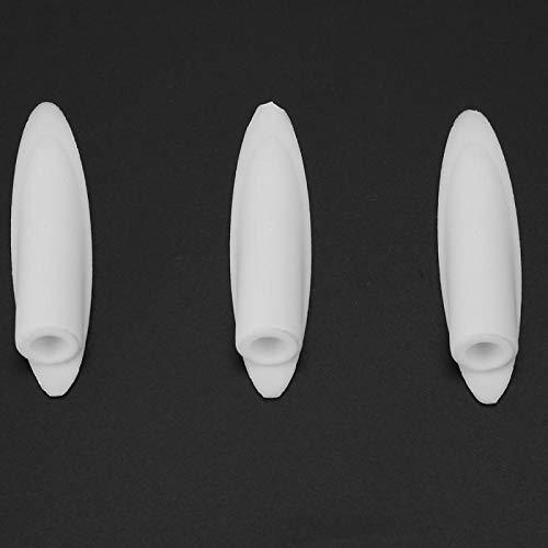 SALUTUYA Tapones de botón de 3/8 Pulgadas, 100 Uds, Tapones para Muebles de Madera Dura, 100 Uds, Tapones de Madera Dura para Accesorios de Herramientas de Trabajo(White)