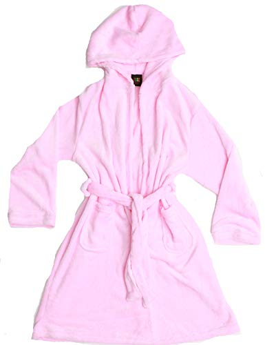 Just Love Velour Solid Robes for Girls 75604-PNK-10-12 Light Pink