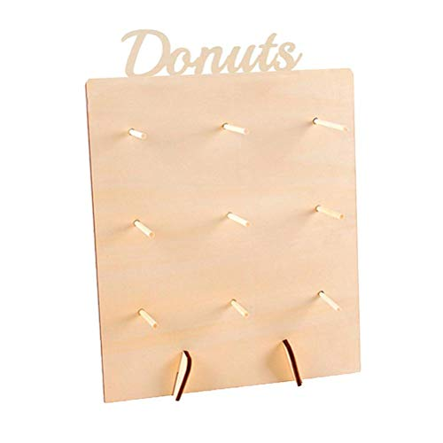 DIY Donuts Stands, Wooden Doughnuts Display Holder, Reusable/Washable Wall Display Stand for Birthday Cake Wedding Party Donut Decoration