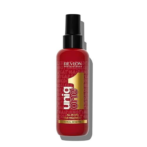 REVLON PROFESSIONAL UNIQONE HAIR TREATMENT CELEBRATION EDITION, Leave-In Hair Treatment, Treatment For Frizzy Hair, Vegan Hair Care, Detangling Spray, Spray-In Hair Conditioner – 150 ml