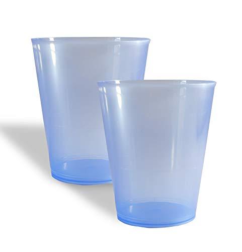 Vaso Sidra Plástico Reutilizable. Color Azul. Cantidad: 75 Unids/Bolsa 25. Cap. 480ml. Vasos de plástico para Fiestas, cumpleaños,etc.