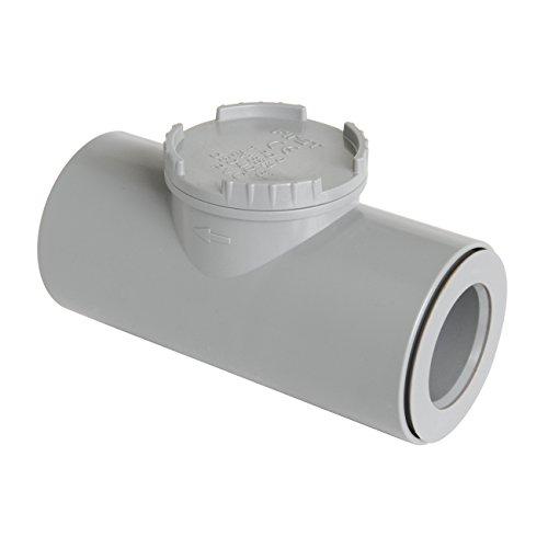 First plast nrc32g Válvula antirretorno de PVC ad pegar, Gris, Diámetro 32mm